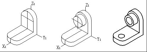 掌握正等测图中椭圆的长短轴方向外,还要注意轴测图中相贯线的画法.