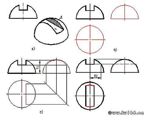 机械制图图纸的一般知识_第十一讲,圆锥,圆球截交线