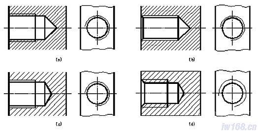cad机械制图内螺纹画法