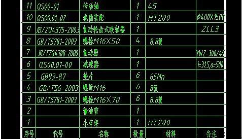 浩辰CAD2012教程_(67)表格刻度快速提取-百cad标注数据图片