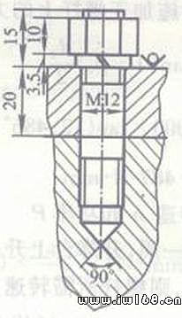 2) 上被联接件孔应为大于螺栓大径的光孔,下被联接件孔应为