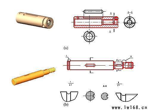 键槽的画法_轴套零件的画法