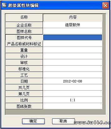 运行浩辰cad机械2011菜单中【图纸】命令,在其子菜单中选取相应的表栏