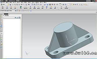 圆柱体怎么做-⑥在圆柱顶面做正方形的草图,向下拉伸,布尔运算求差,得以下穿孔图片