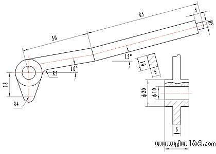 下列图1~5所示是某一型号的手压阀产品的部分零件图样和装配图样图片