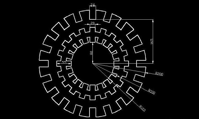 二维绘图是CAD的主要功能,也是最基本的功能,而二维平面图形的形状都很简单, 创建起来也很容易,本CAD绘图基础实例一个一个讲一些简单的图形的画法: 本CAD绘图基础实例如下图: 第一步:画如图所示图形&nb