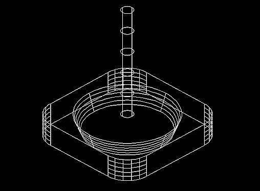 执行三维旋转操作rotate3d,选中圆柱体,以圆柱体底面圆心为基点,沿y轴
