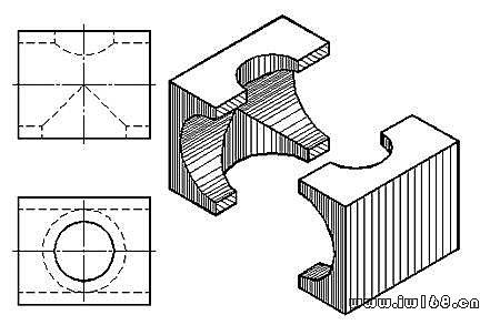 机械制图图纸的一般知识_第十二讲,圆柱相贯线