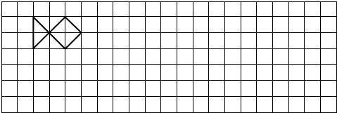 在方格里画出先向下平移3格,再向右平移8格后的图形.