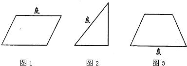 你会用三角尺画出平行四边形,三角形和梯形的高吗?试一试.图片