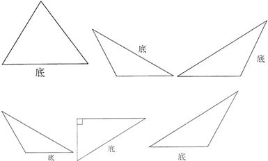 画出各个三角形底边上的高图片
