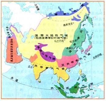 亚洲候类型分布�_分析亚洲气候类型分布图完成.