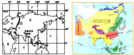 亚洲地囹�9�%9�._(1)亚洲东北隔白令海峡与d______洲为界,南面隔海与c______洲相望