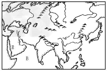 哥哥干亚洲_读亚洲地形图,完成各题:(1写出图中字母所代表的地理事物名称:a