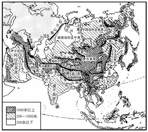 亚洲地囹�9�%9�._(1)亚洲地形的主要特点