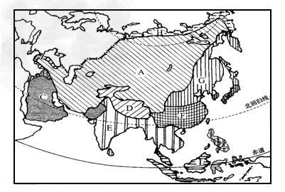 亚洲候类型分布�_读图\