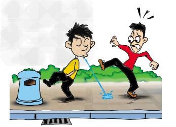 观察下面漫画,回答问题(1)漫画中男孩的这种行为是一