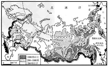 亚洲地形囹�b���_轻,重工业都比较发达     b.人口集中在亚洲部分   c.