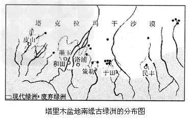 (1)塔里木盆地的人口、城市和交通设施分布在图中位置是_____;