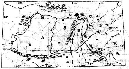 两个地形区的分界线名称为山脉