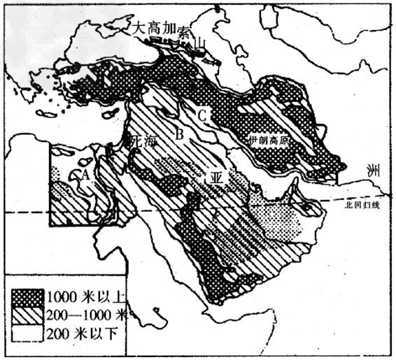 巴以冲突中东地�_下面不属于巴以冲突原因的是[ ]a.宗教的差异b.水资源