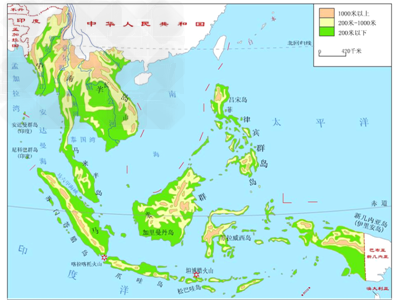 (2从地图中看出,中南半岛的地形特点是山脉,河流多__________延伸