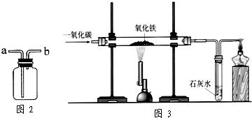 氧化铁反应.在实验室里,可用图3所示装置进行实验:实验中玻璃管图片