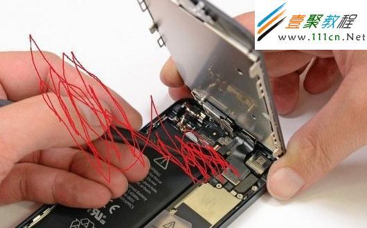 如何给iphone(苹果)手机开盖去除污垢-ios7教程-手机