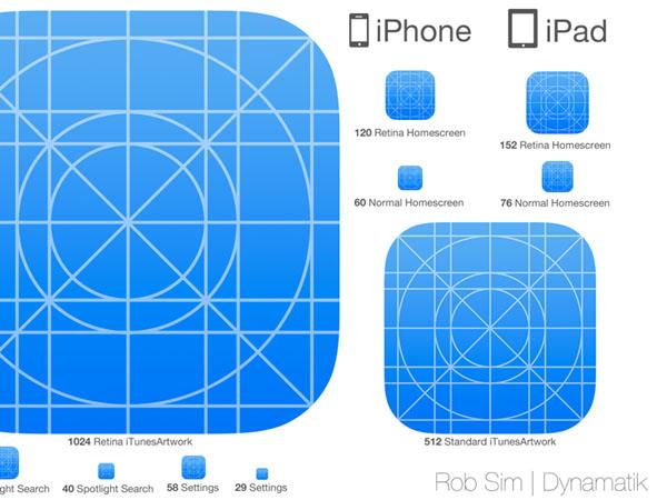 移动图标设计教程:快速打造ios7风格图标.