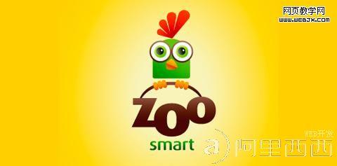 webjx收集可爱卡通角色logo设计实例