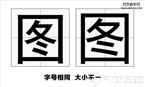 视觉设计中的微软雅黑的字体设计