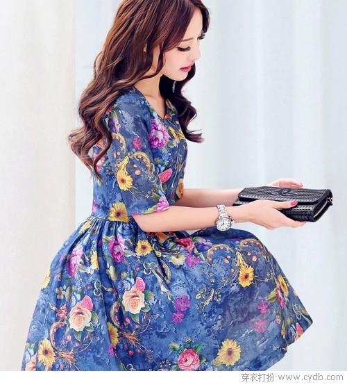 春夏流行 花 裙子