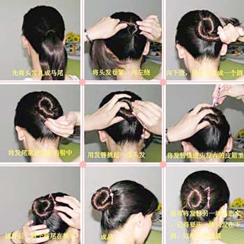 簪子盘发的步骤?