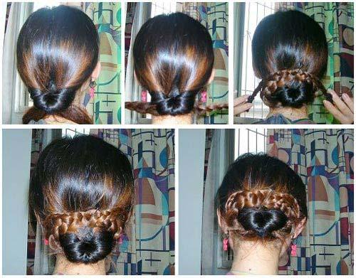 12种盘发方法图片