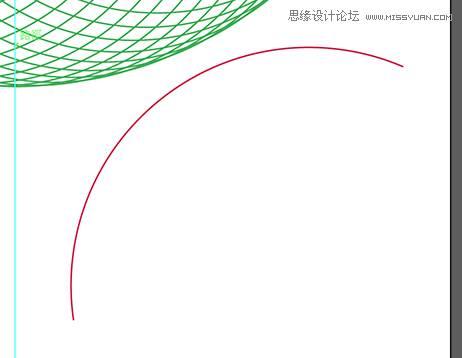 图片是为了让大家看清楚弧形线段大约长相所以移到空白处,实际上这条