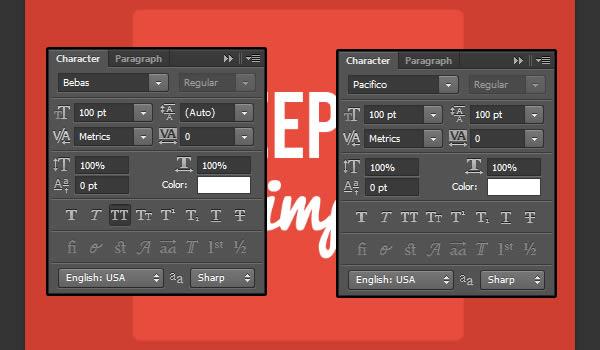 PS制作长投影文字效果的四种方法