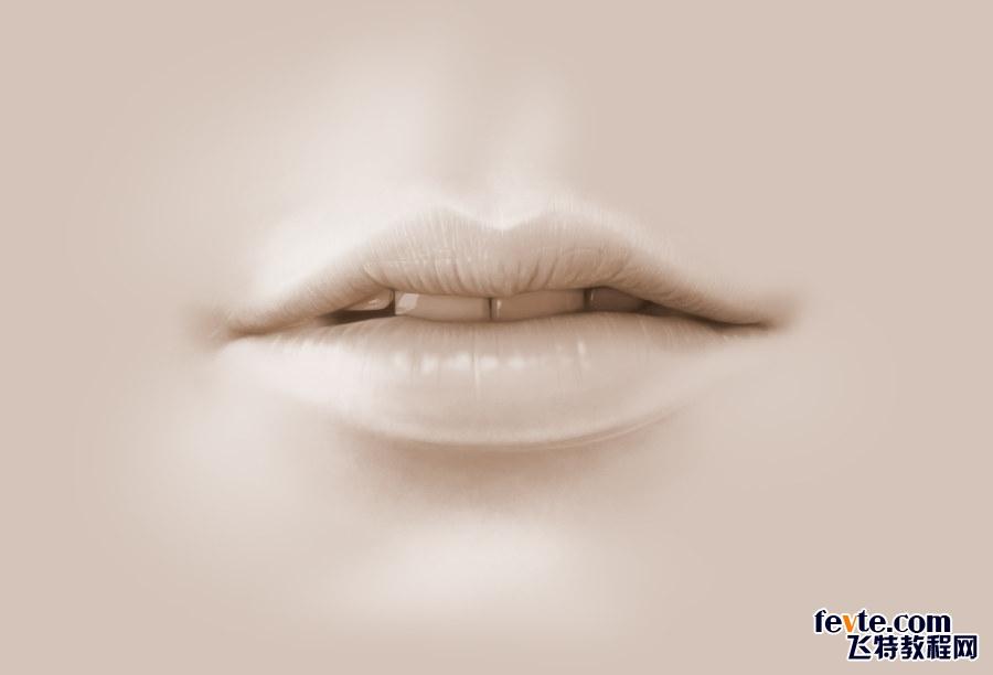 PS绘制诱人的嘴唇视频教程