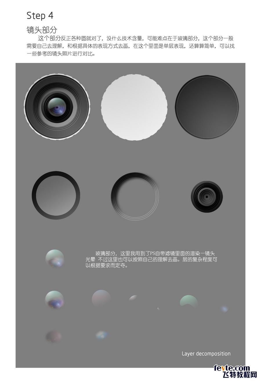 PS鼠绘超写实相机图标