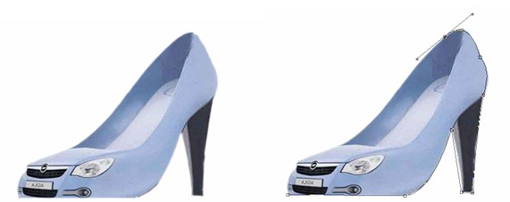 分类导航 计算机/互联网 平面设计 photoshop > ps制作简单创意鞋子图片
