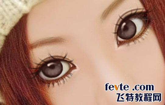 ps鼠绘可爱大眼睛女孩