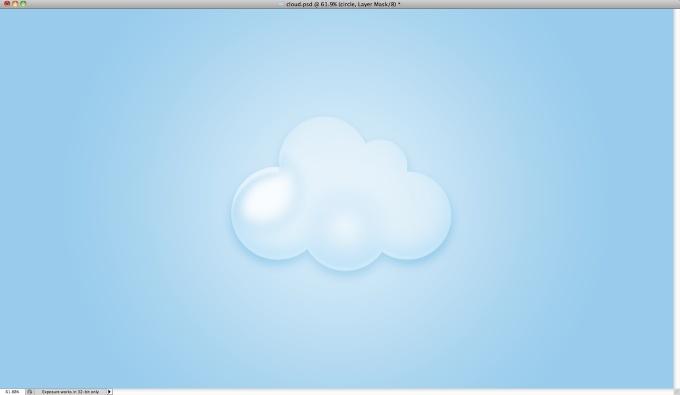 ps鼠绘可爱卡通云朵