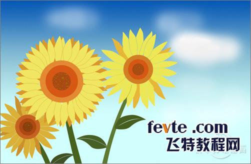 photoshop鼠绘向日葵教程 网 ps鼠绘教程