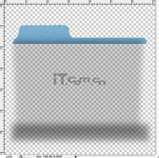 PS鼠绘漂亮文件夹图标