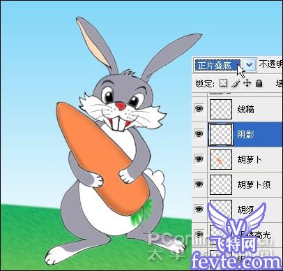 "photoshop鼠绘""抱胡萝卜的小兔子"