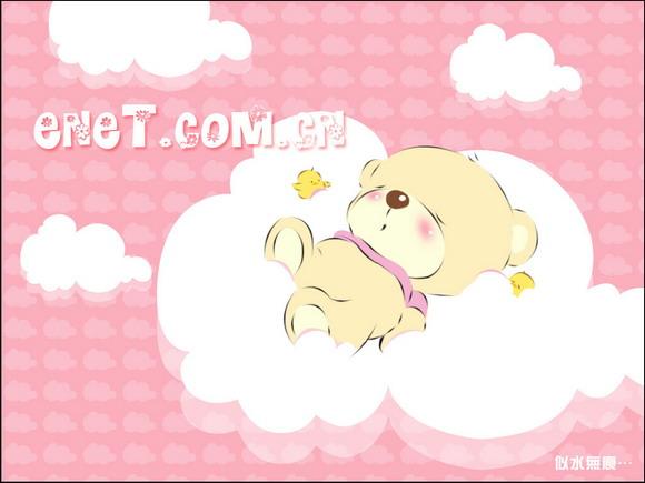 photoshop鼠绘:绘制酣睡可爱小熊壁纸图片