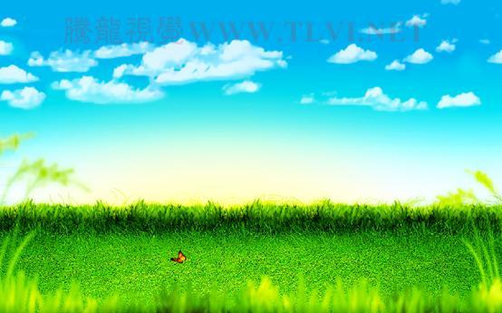 7)调整图像的整体色调,使图像色调更加清新-PS合成儿童节宣传海报