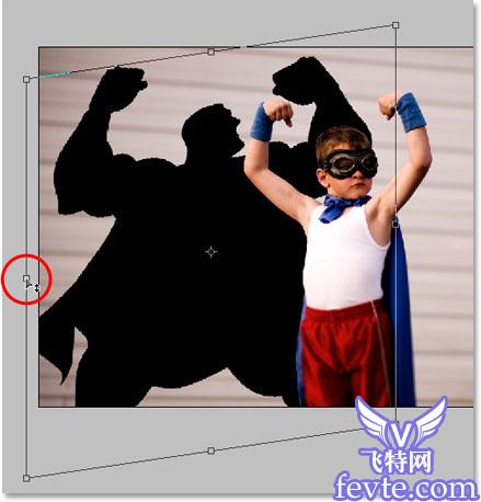 计算机/互联网 平面设计 photoshop > ps给小孩照片合成超人影子   &