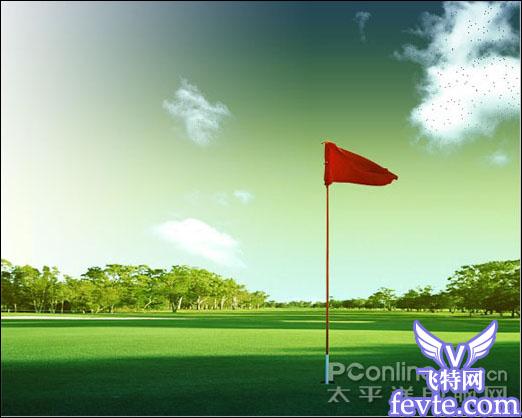 photoshop图片合成高尔夫球赛海报