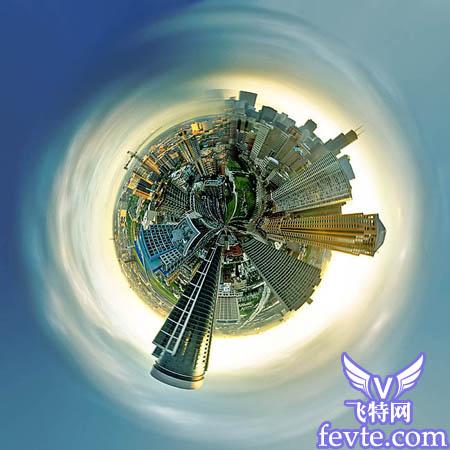 ps滤镜打造创意的透视球体照片