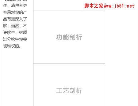 解析淘宝产品描述页页面设计,ps教程,脚本之家